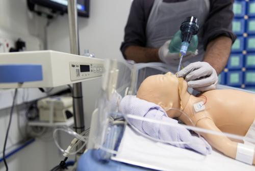 Staff practicing in GOSH's Clinical Simulation Centre