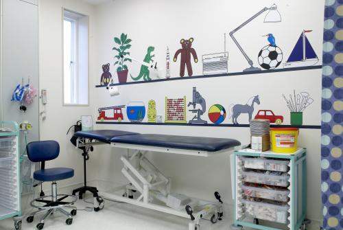 A clinic room at GOSH